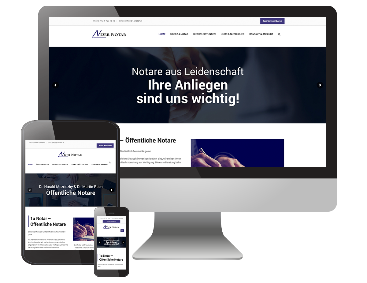Notariat Schwechat - Web Design by GastroGraphix