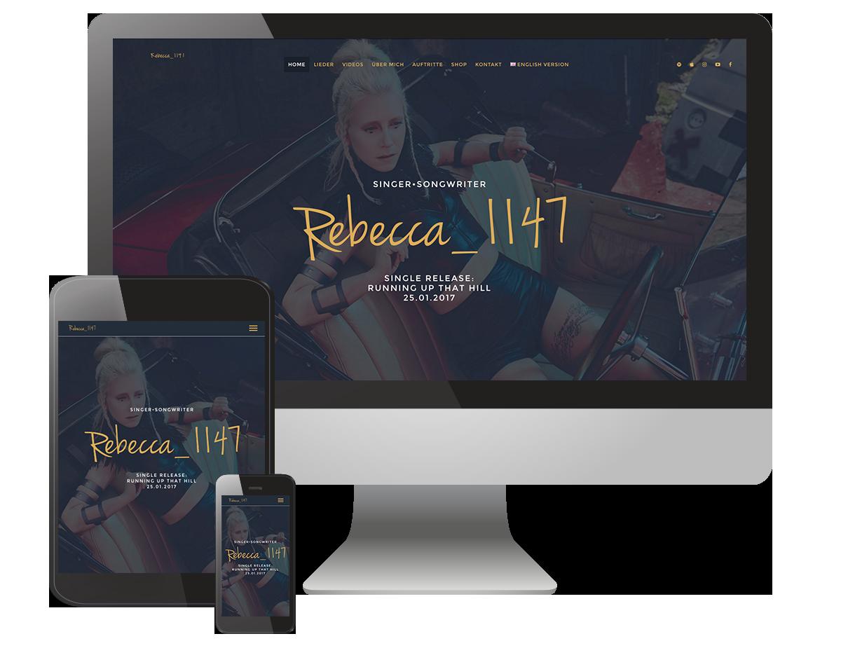 Für Rebecca_1147 durfte GastroGraphiX die Komplette Künstler-Ci erstellen. Vom Logo bis zur Website.